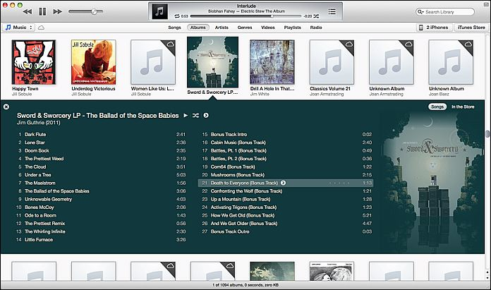 iTunes 11 Album View