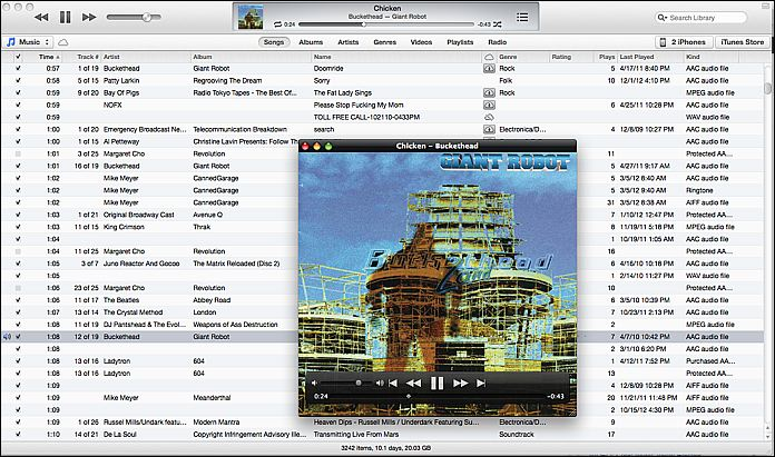 iTunes 11 Layout