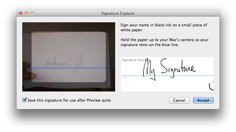 Note that Preview also made a crisp outline of my thumb, so watch the signature box carefully.
